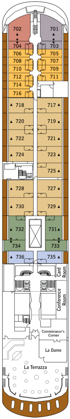 Silver Shadow Deck Seven Deck Plan