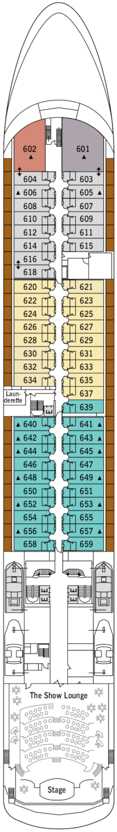 Silver Shadow Deck Six Deck Plan