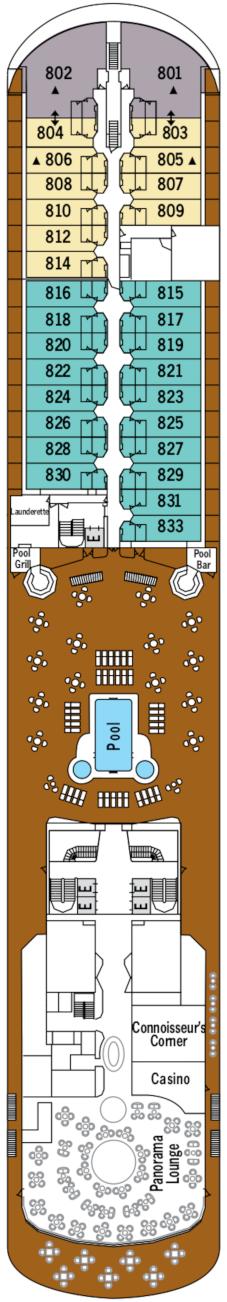 Silver Shadow Deck Eight Deck Plan