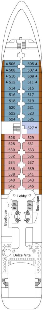 Silver Wind Deck Five Deck Plan