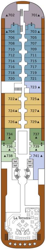 Silver Wind Deck Seven Deck Plan