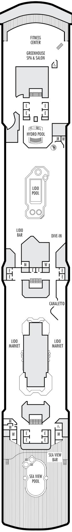 Zuiderdam Lido Deck Deck Plan