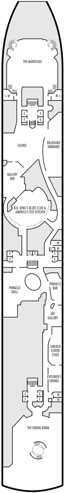 Zuiderdam Lower Promenade Deck Deck Plan