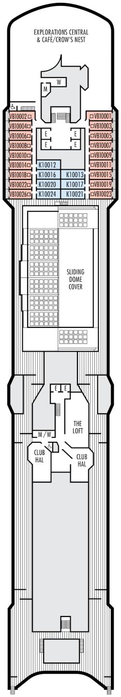 Zuiderdam Observation Deck Deck Plan