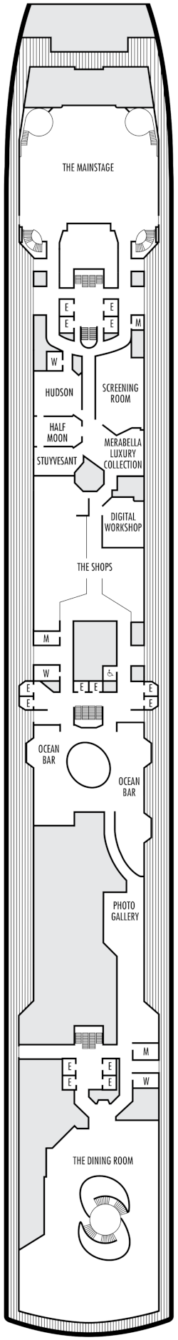 Zuiderdam Promenade Deck Deck Plan