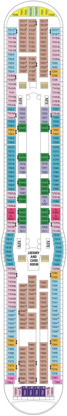Navigator Of The Seas Deck Seven Deck Plan