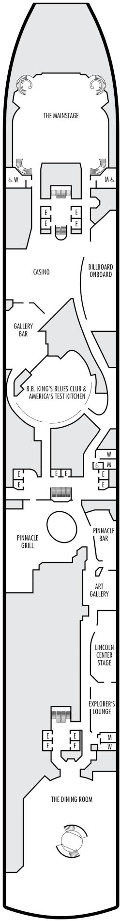 Oosterdam Lower Promenade Deck Plan