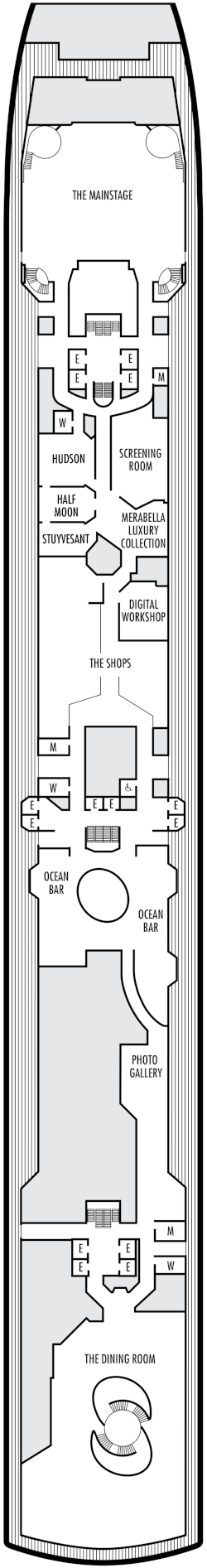 Oosterdam Promenade Deck Plan