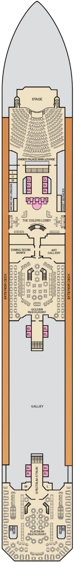 Carnival Glory Lobby Deck Deck Plan