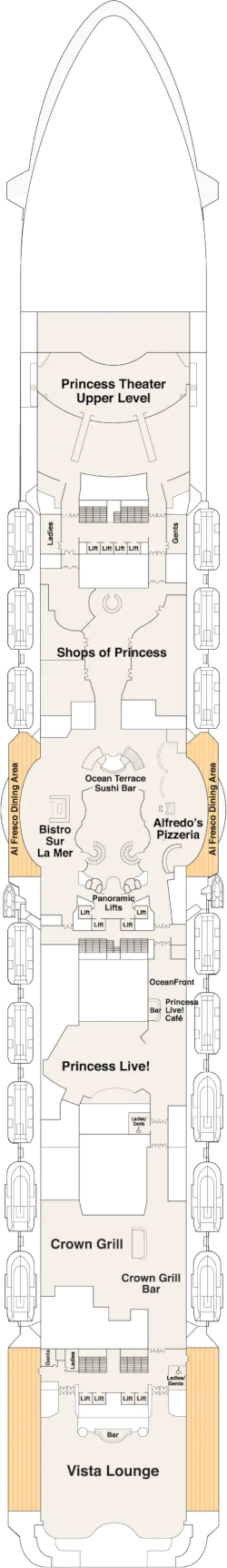 Sky Princess Promenade Deck Deck Plan