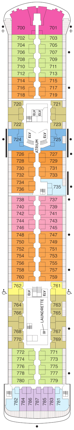 Seven Seas Voyager Null Deck Plan
