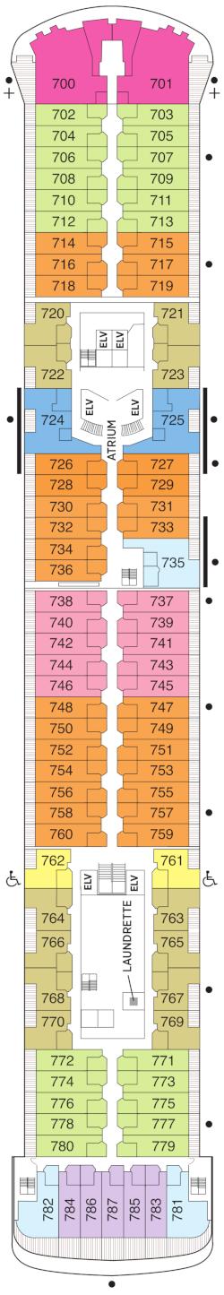 Seven Seas Voyager Deck Seven Deck Plan