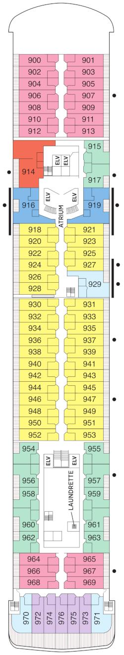 Seven Seas Voyager Deck Nine Deck Plan