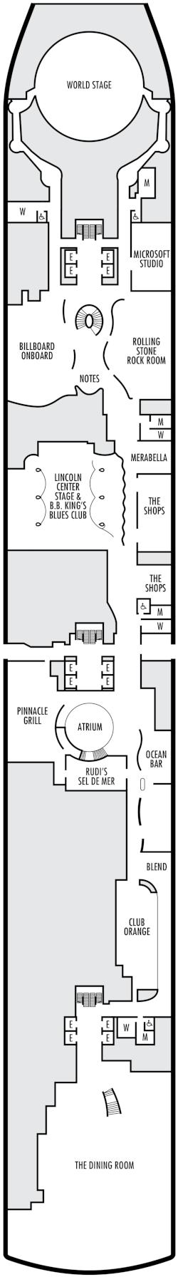 Koningsdam Plaza Deck Deck Plan