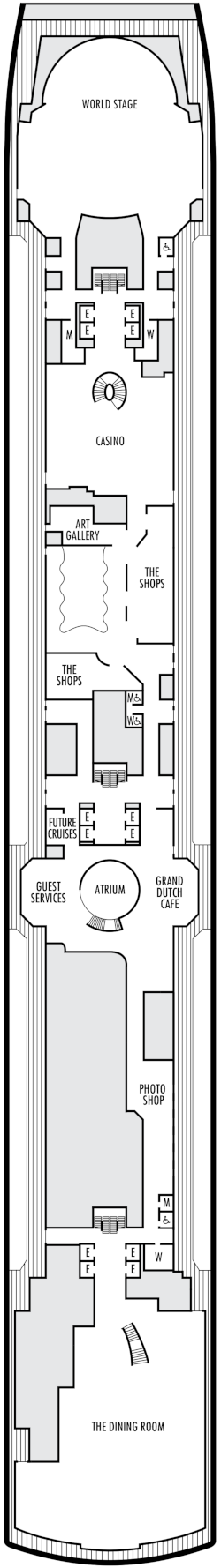 Koningsdam Promenade Deck Deck Plan