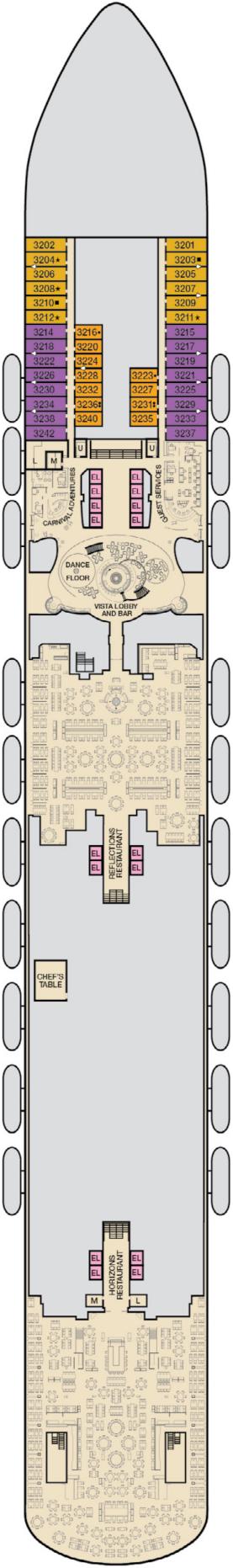 Carnival Vista Lobby Deck Plan