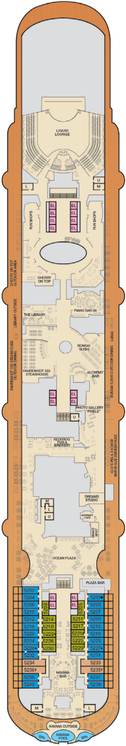 Carnival Vista Promenade Deck Plan