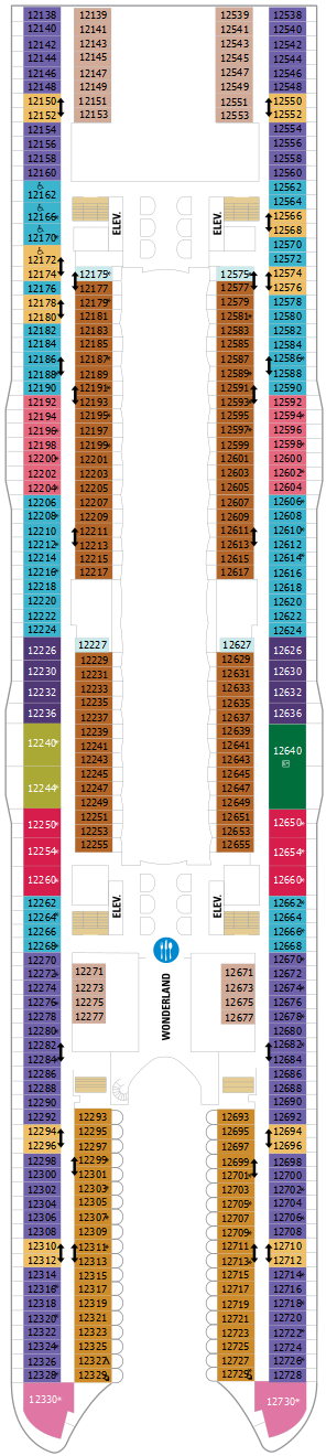 Harmony Of The Seas Deck Twelve Deck Plan