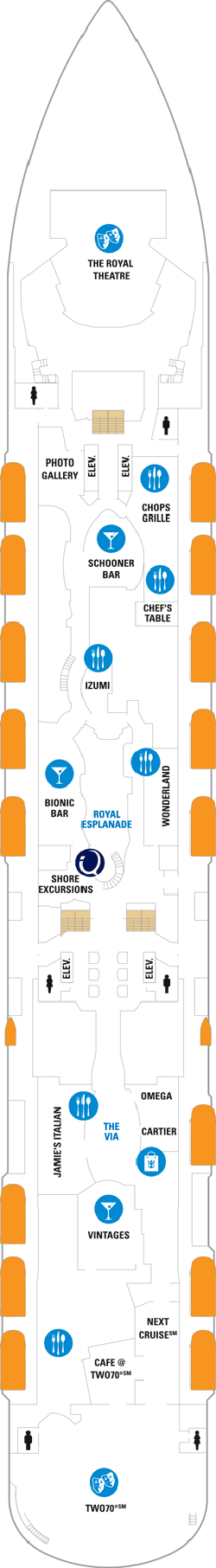 Ovation Of The Seas Deck Five Deck Plan