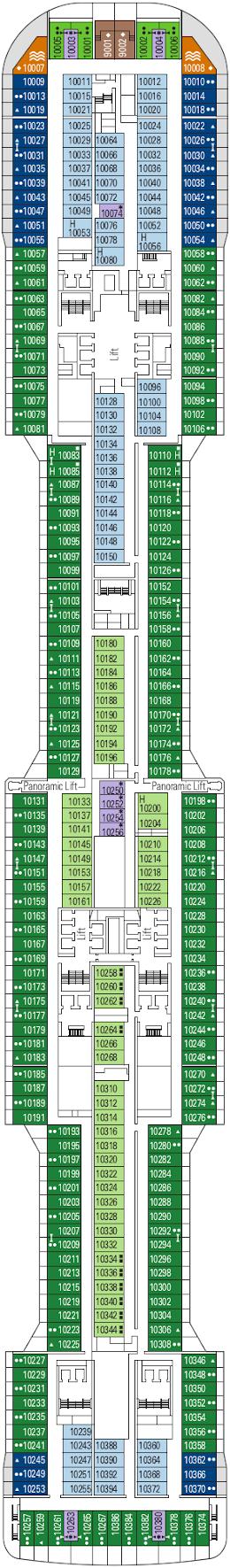 Msc Meraviglia Hagia Sophia Deck Deck Plan