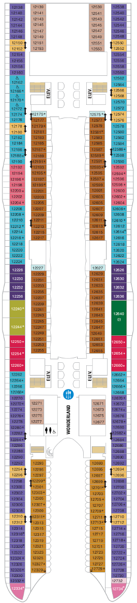 Symphony Of The Seas Deck Twelve Deck Plan
