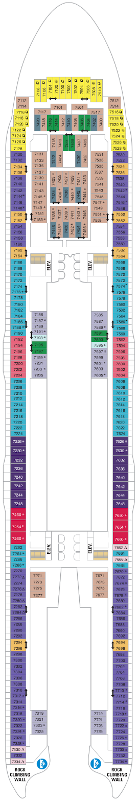 Symphony Of The Seas Deck Seven Deck Plan