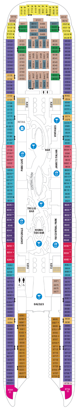 Symphony Of The Seas Deck Eight Deck Plan