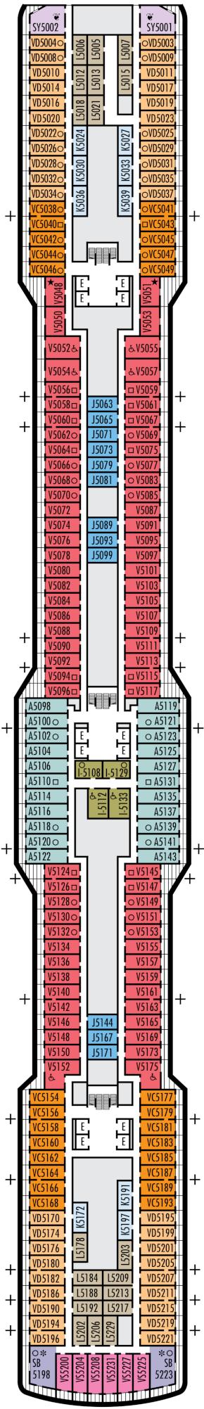 Nieuw Statendam Gershwin Deck Deck Plan