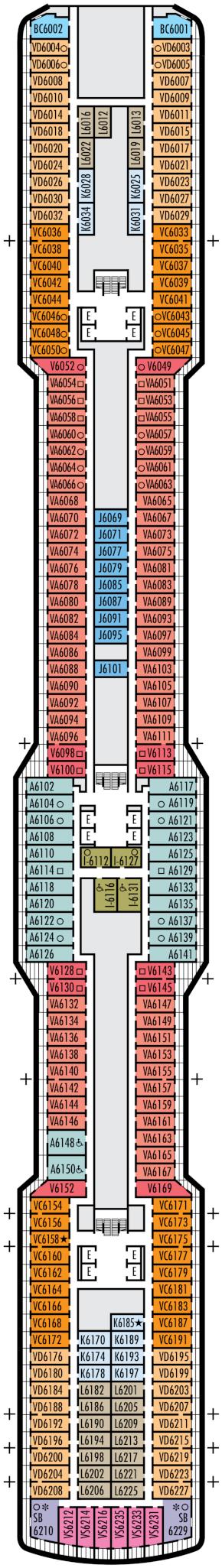 Nieuw Statendam Mozart Deck Deck Plan
