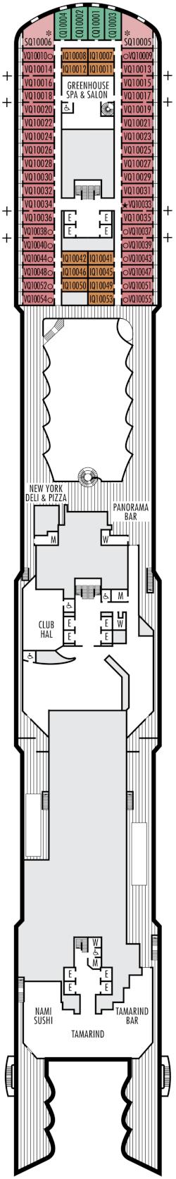 Nieuw Statendam Panorama Deck Deck Plan