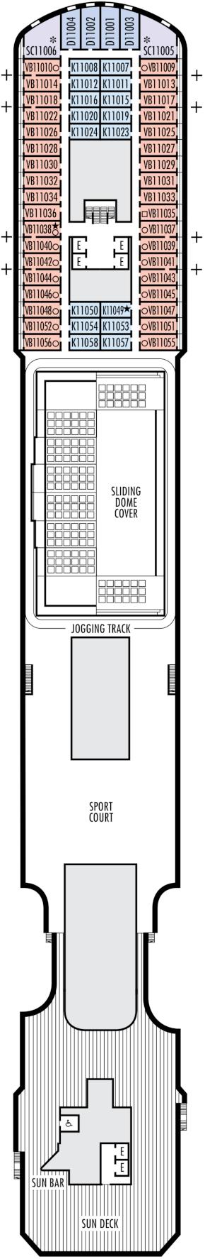 Nieuw Statendam Sun Deck Deck Plan
