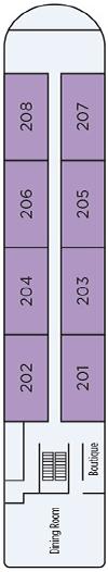 Aria Amazon Second Deck Deck Plan