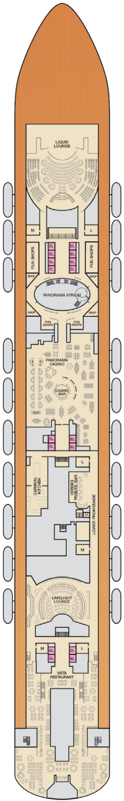 Carnival Panorama Mezzanine Deck Plan