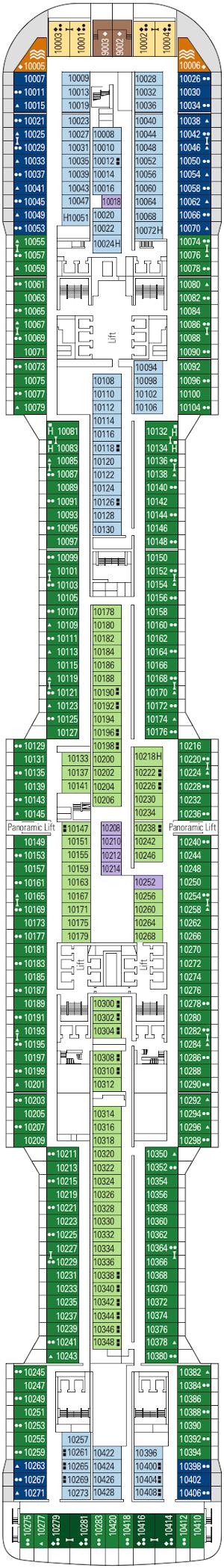 Msc Grandiosa Deck Ten Deck Plan