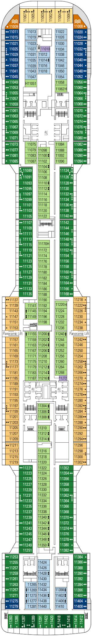 Msc Grandiosa Deck Eleven Deck Plan
