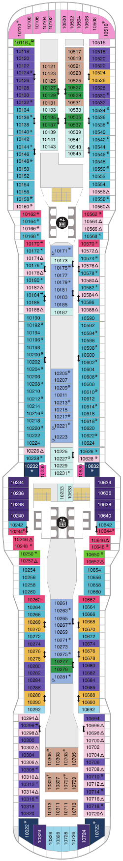 Spectrum Of The Seas Deck Ten Deck Plan