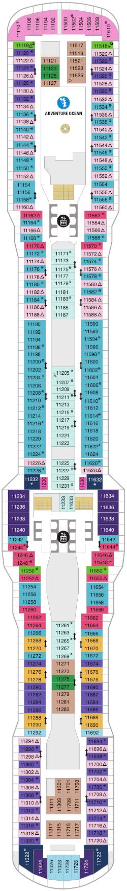 Spectrum Of The Seas Deck Eleven Deck Plan