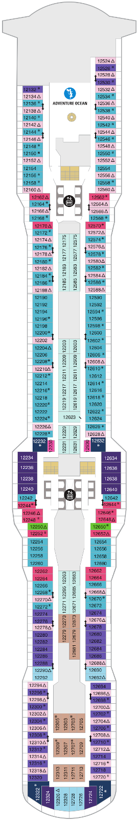 Spectrum Of The Seas Deck Twelve Deck Plan