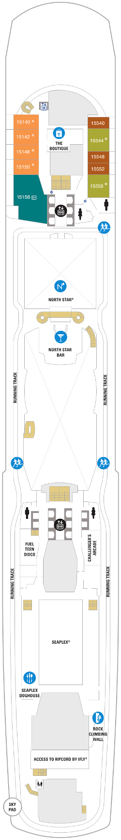 Spectrum Of The Seas Deck Fifteen Deck Plan