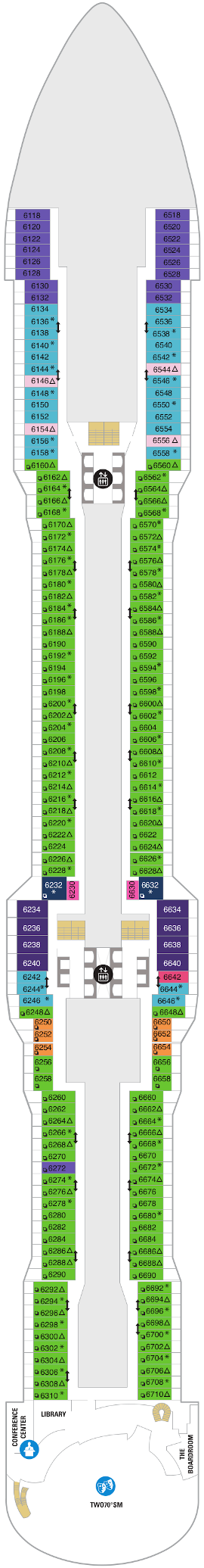Spectrum Of The Seas Deck Six Deck Plan