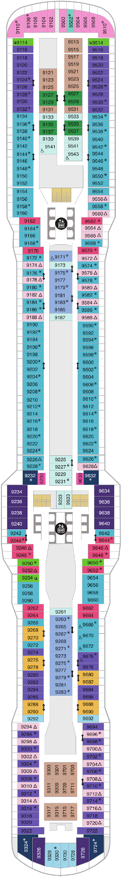 Spectrum Of The Seas Deck Nine Deck Plan