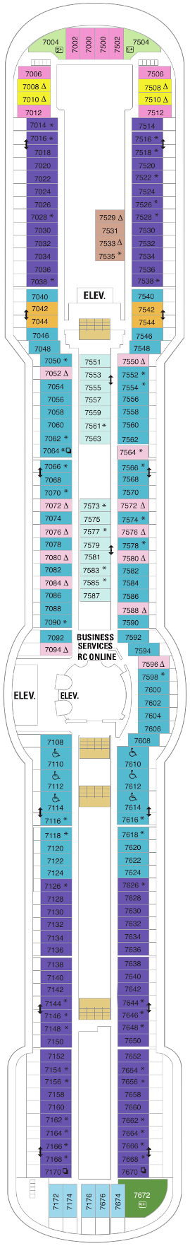 Serenade Of The Seas Deck Seven Deck Plan