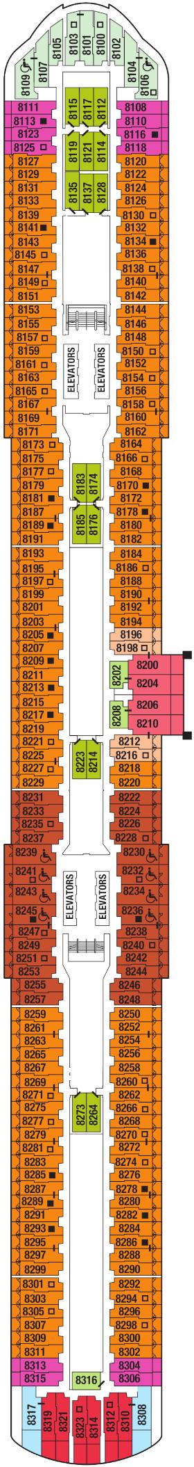 Celebrity Apex Deck Eight Deck Plan