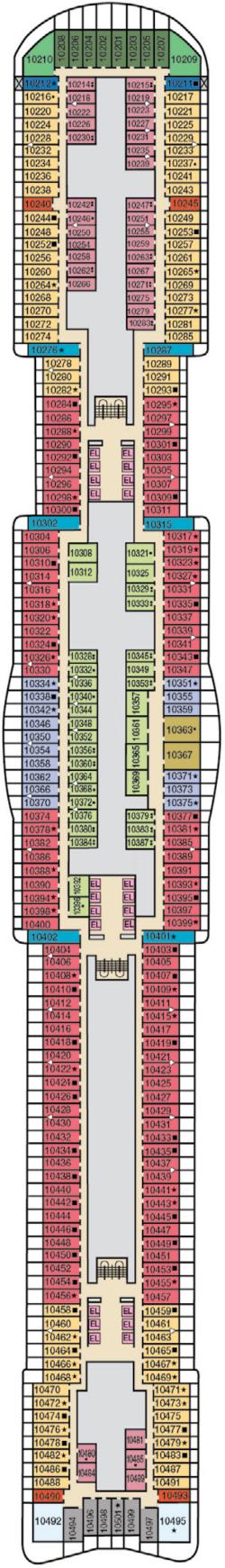 Mardi Gras Deck 10 Deck Plan