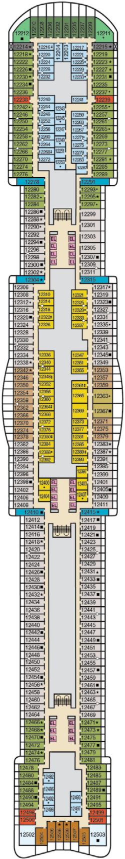 Mardi Gras Deck 12 Deck Plan
