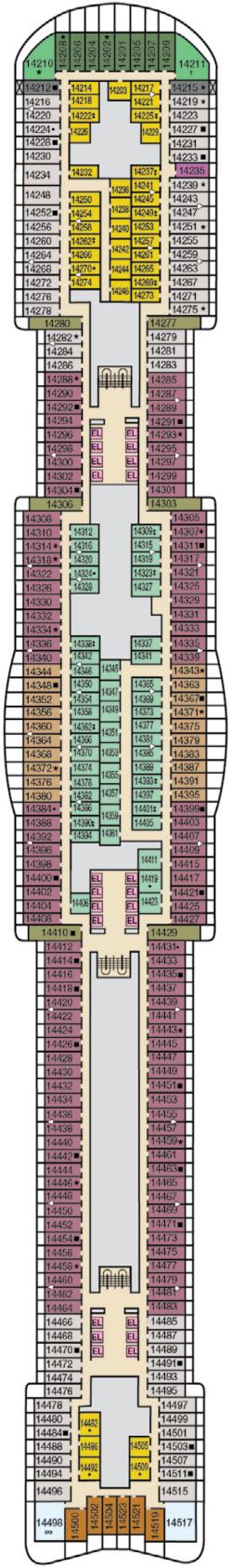 Mardi Gras Deck 14 Deck Plan