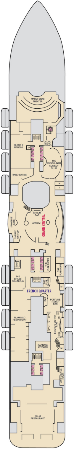 Mardi Gras Deck 6 Deck Plan