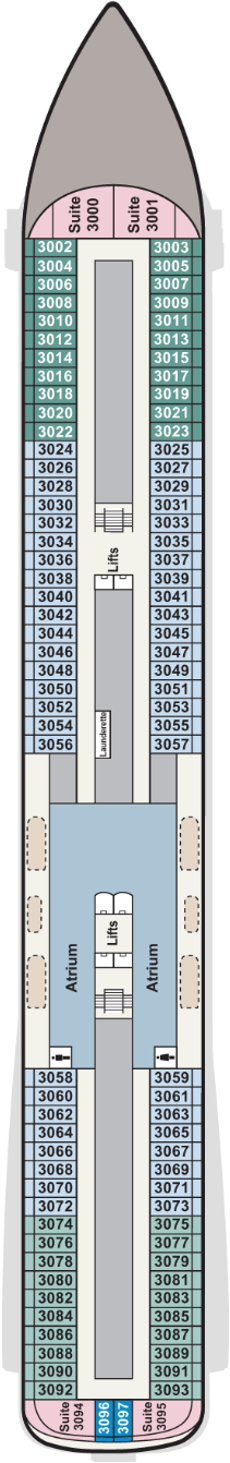 Viking Venus Deck 3 Deck Plan