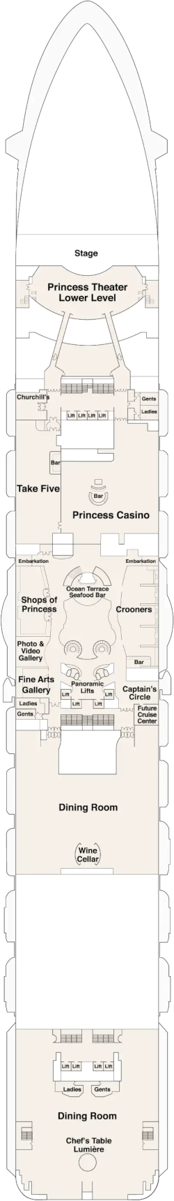 Discovery Princess Fiesta Deck Deck Plan
