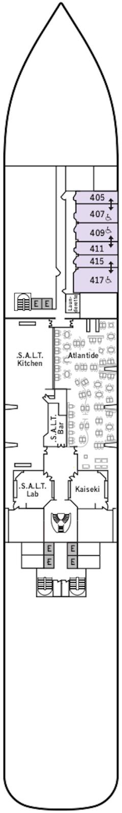 Silver Dawn Deck 4 Deck Plan